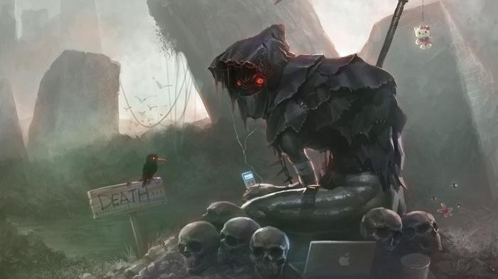Zelda, death, crow