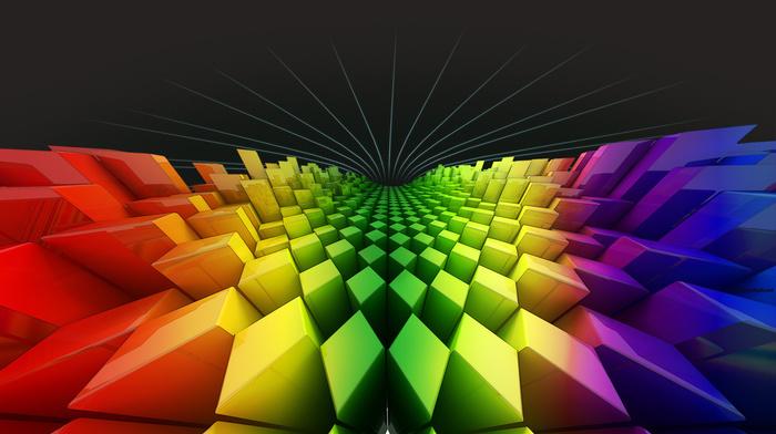 rainbow, colors, 3D
