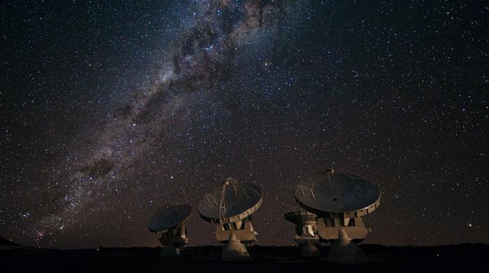 Milky Way, galaxy, space, stars