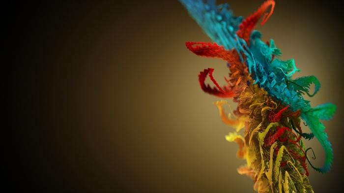 colors, paints, 3D