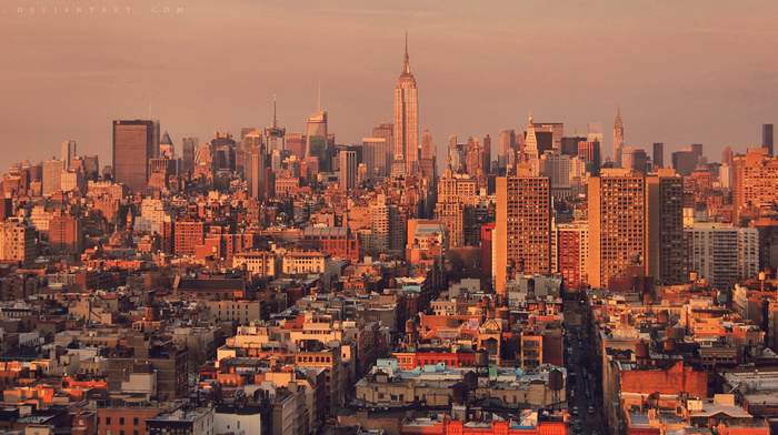 skyscrapers, houses, city, cities, New York City