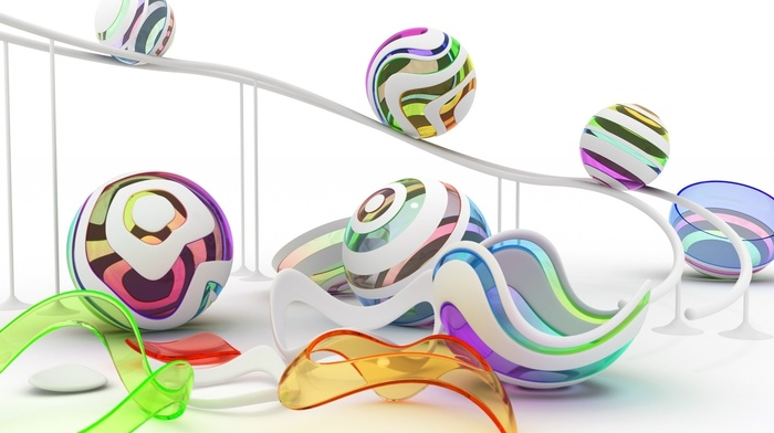 abstraction, 3D, colors, balloon