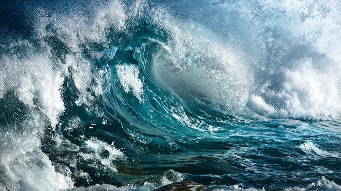 stones, splash, water, nature, wave, storm, ocean
