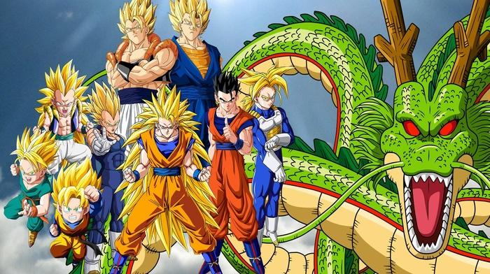 Ultimate Gohan, Vegeta, Dragon Ball, Trunks character, Super Saiyan 3, Vegito, Gogeta, shenron, Gotenks, Super Saiyan