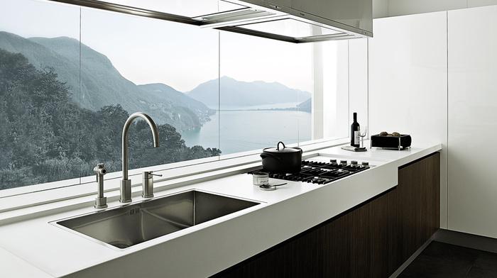 interior, villa, style, design, house, kitchen