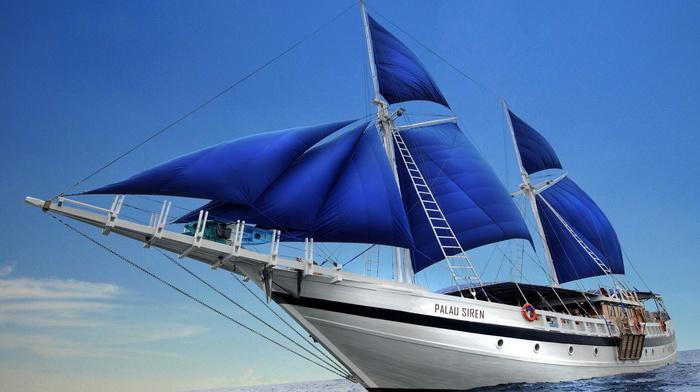 sky, ship, waves, stunner, sea, sailfish