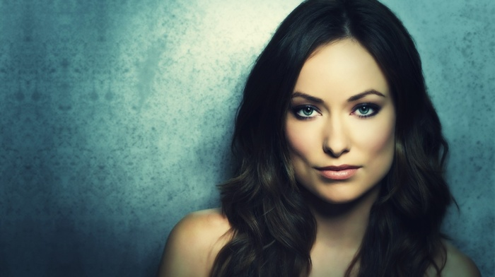 dark hair, actress, blue eyes, brunette, Olivia Wilde, girl
