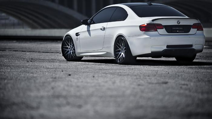 m3, cars, BMW, bmw, rear view, white