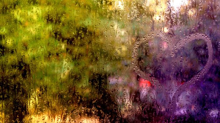 drops, macro, water, lights, rain, window