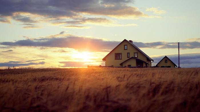sunset, Sun, light, nature, rays, bokeh, evening