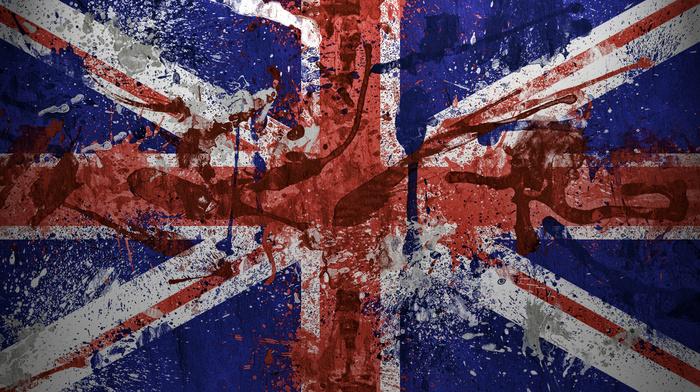 флаг, Великобритания, текстуры, great britain, краски, flag