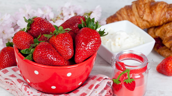 delicious, berries, plate, strawberry