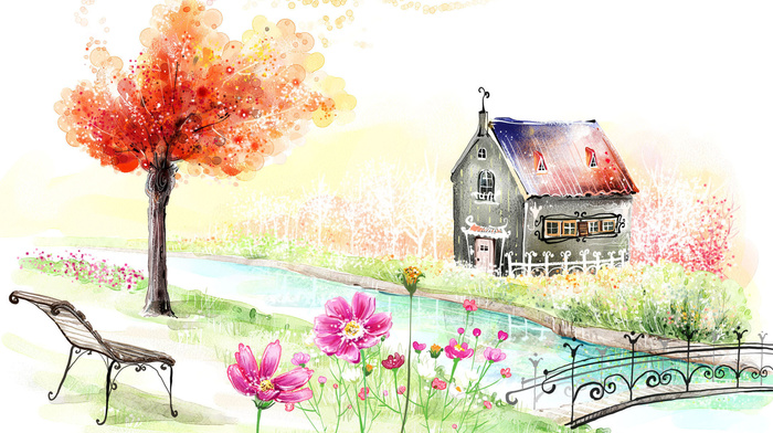 paints, stunner, drawing, house