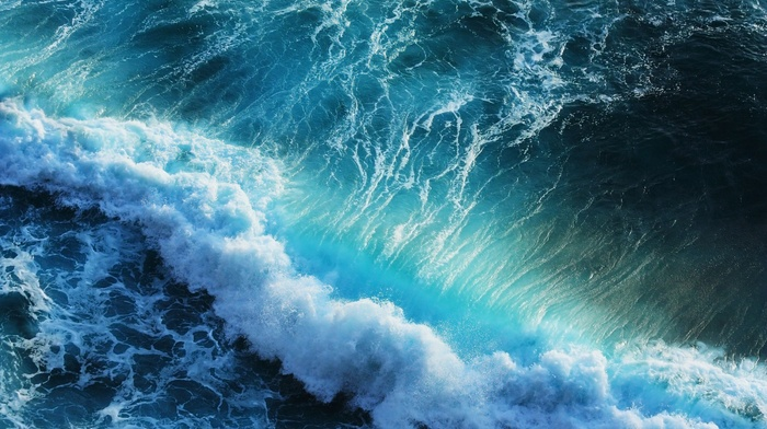 природа, пена, море, волна, прибой