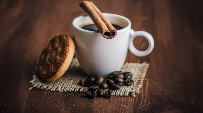 cookie, cup, drink, coffee, delicious