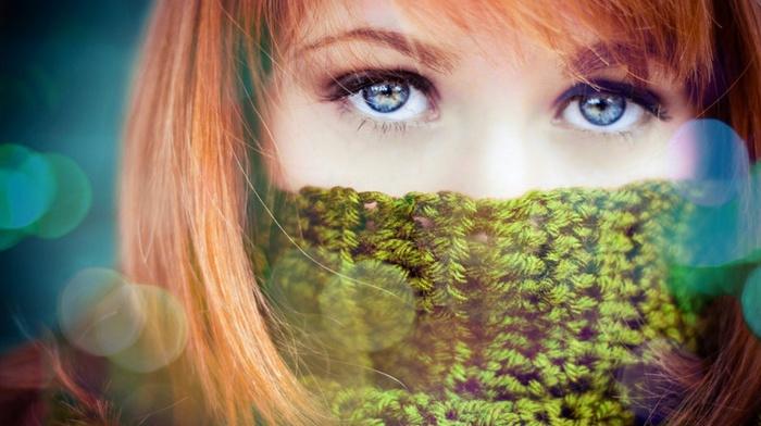 blue eyes, redhead, girl