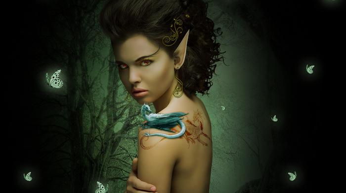 earrings, patterns, sight, fantasy