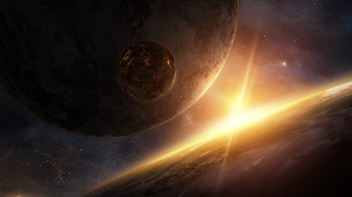 art, planets, space, star