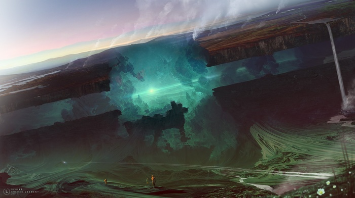 Kuldar Leement, glowing, fantasy art, artwork, futuristic