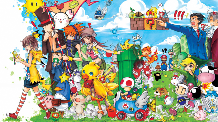 Mario Kart, The World Ends With You, The Legend of Zelda, Disgaea, ace attorney, bomberman, Mario Bros., Harvest Moon, Nintendo DS, video games, Final Fantasy, link