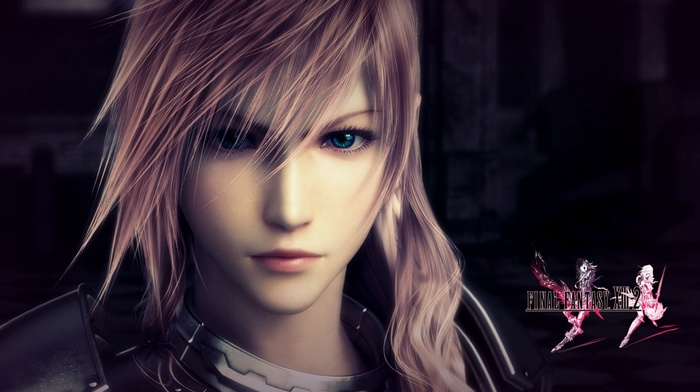 blue eyes, video games, Final Fantasy XIII 2, pink hair, Final Fantasy XIII, Claire Farron, girl, Square Enix, Final Fantasy, long hair