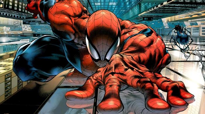 spider, man, superhero, Marvel Comics, comics, comic art