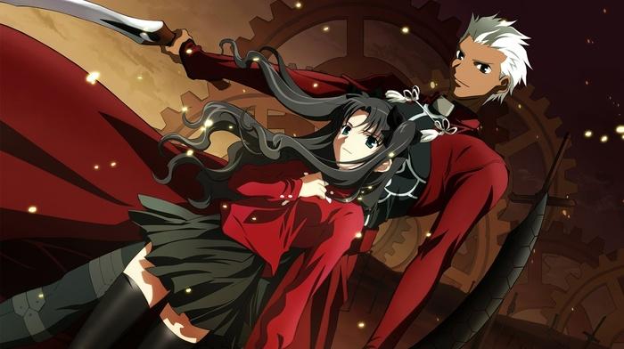 Tohsaka Rin, FateStay Night, Archer FateStay Night, anime, fate series