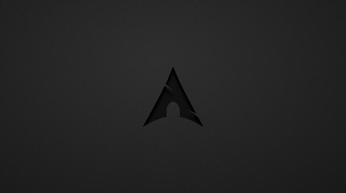Linux, Arch Linux, dark gray