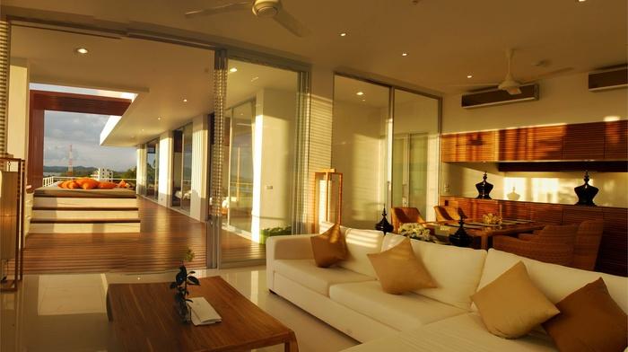 villa, style, design, house, interior