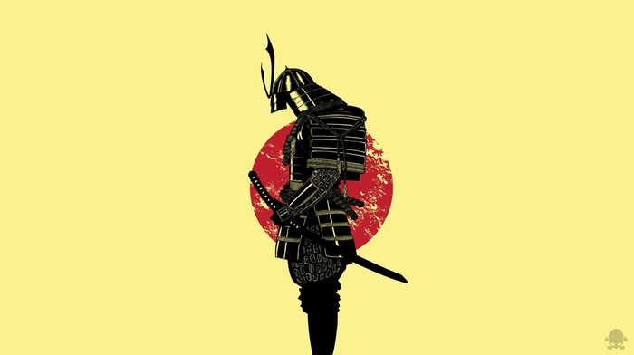 Japan, cartoon, samurai, warrior