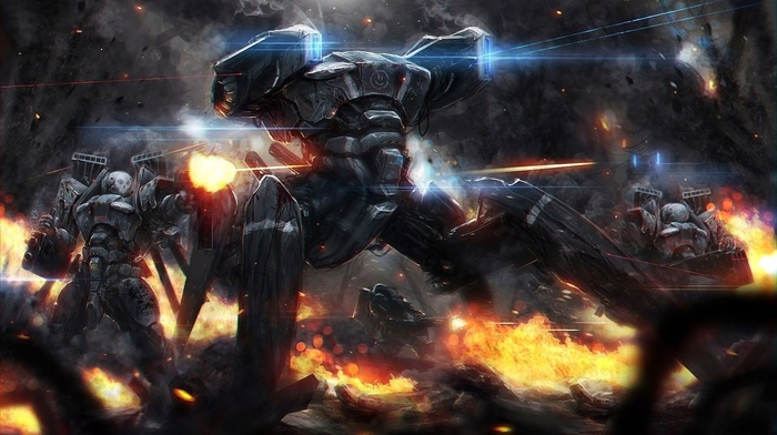 Mech Concept Art Robot Fantasy Art Destruction War