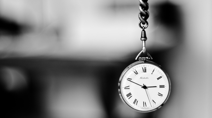 macro, clocks, black and white