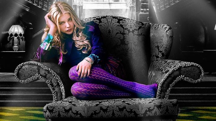 chlo grace moretz, movies, blonde, Dark Shadows, stockings