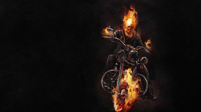 Fire Bike Movies Skeleton Download Wallpaper