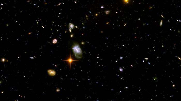 galaxy, Hubble Deep Field, space