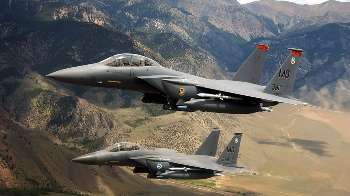 jets, military aircraft, airplane, f, 15 eagle