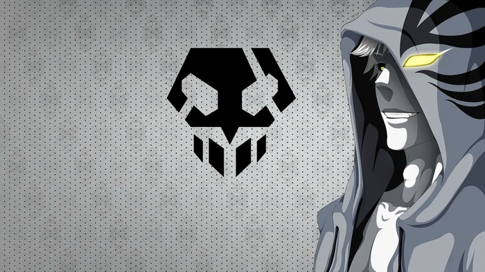 Kurosaki Ichigo, hoods, anime boys, Hollow, dots, Bleach