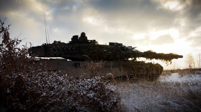 snow, tank, gun