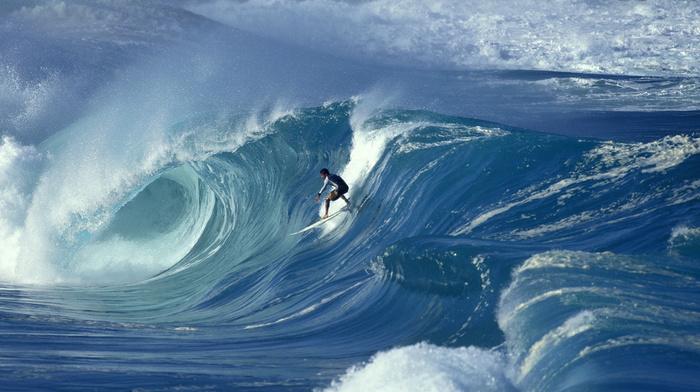 wave, men, surfing, ocean, extreme, stunner, board
