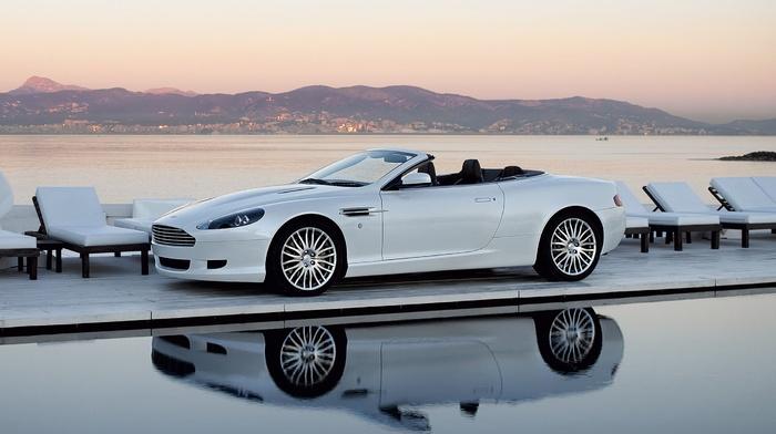 style, nature, auto, cars, Aston Martin, white