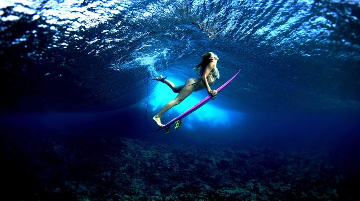 wave, girls, water, ocean, girl, surfing