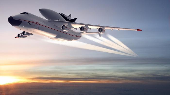 in, sky, sunset, Sun, Ukraine, aircraft, airplane