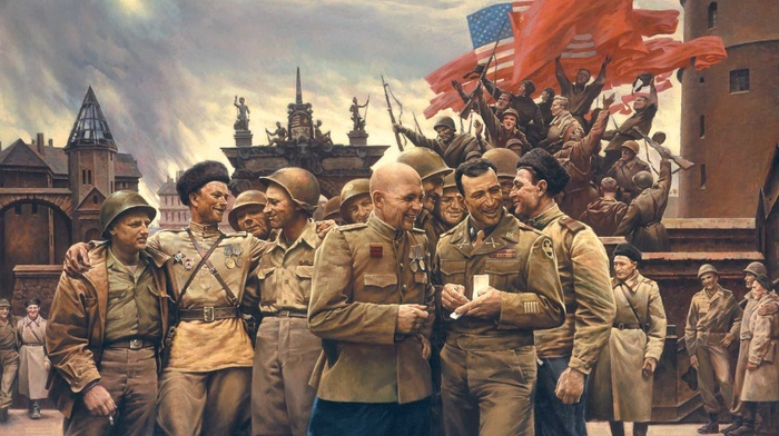 USSR, USA, army, World War II, soldier
