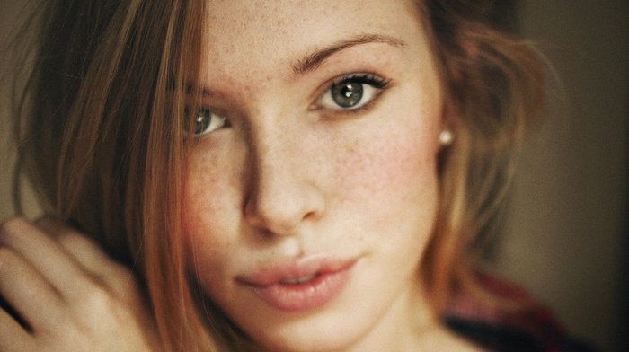 face, redhead, girl, freckles, blue eyes, green eyes, brunette