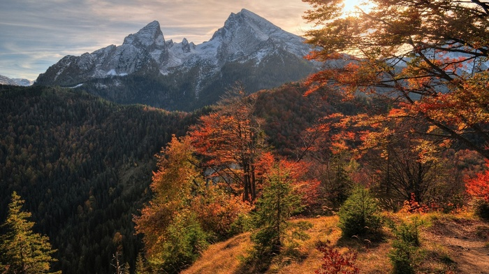 stunner, mountain, paints, sky