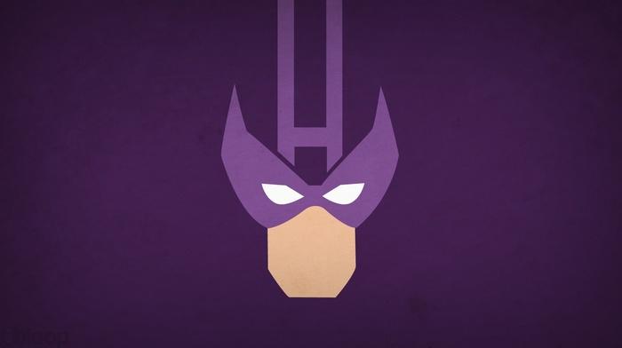 minimalism, superhero, hawkeye, Marvel Comics, comics, heroes, simple background, Blo0p, Marvel vs. Capcom 3