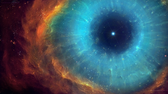 universe, nebula, space, stars, TylerCreatesWorlds, space art, eyes, helix nebula, abstract