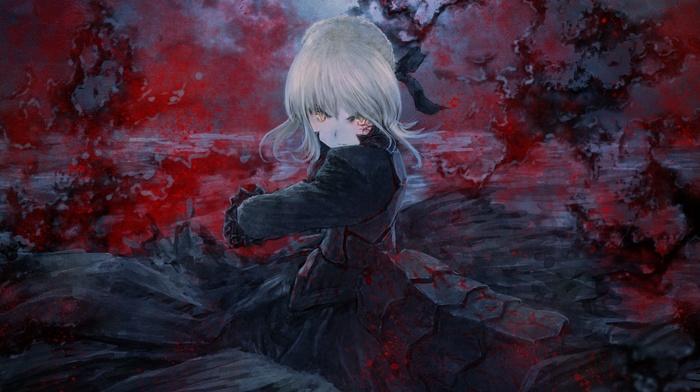 Type, moon, fate series, anime girls, Saber, Saber Alter