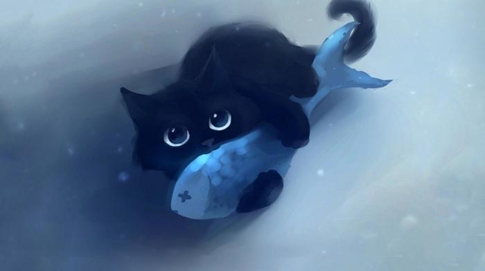 cartoon, fish, cat, apofiss