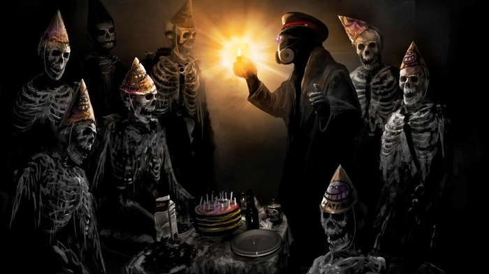 romantically apocalyptic, cakes, skeleton, candles, vitaly s alexius